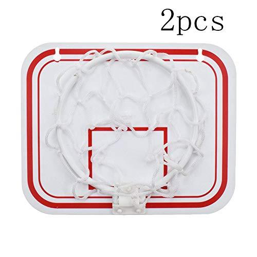 Heipop Mini Cadre de Basket-Ball en Plastique, Cadre de Basket-Ball de Suspension Pliable intérieur avec matière Plastique, Jeu de décompression pour Bureau de Salle de Bain de Chambre à Coucher. (2)