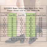 HIPPOSEUS Chaussures de Danse Latine pour Femmes à Bouts fermés, Chaussures de Performance de Formation de Danse Moderne Jazz, modèle NJB701,Couleur Rouge,EU 36