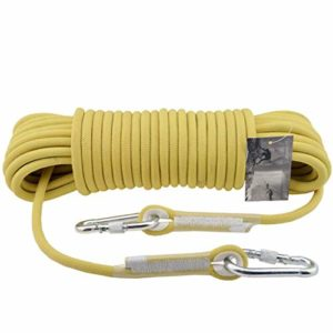 HUYYA Corde De Sécurité Sauvetage, 11 mm Corde Parachute de Survie Auxiliaire Corde d'escalade Multifonction Corde de Sécurité avec verrou de sécurité d'escalade Extérieure,Yellow_200M(656FT)