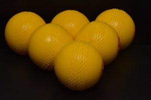 Jardin Balles de cricket (boîte de 6) Balles Jaune