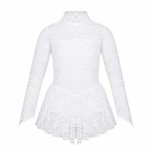 Justaucorps de ballet pour fille – Blanc – X-Large