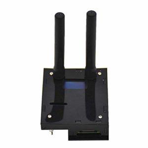 LEDMOMO Support du kit MMDVM Hotspot P25 DMR YSF et Raspberry Pi avec boîtier d'antenne OLED (Noir)