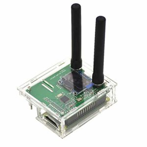 LEDMOMO Support du kit MMDVM Hotspot P25 DMR YSF et Raspberry Pi avec boîtier OLED d'antenne (Clair)