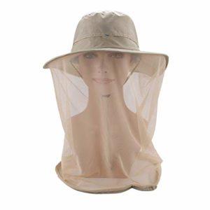 LIOOBO- Chapeau en Filet avec Filet de Protection Contre Les Insectes et Les Abeilles