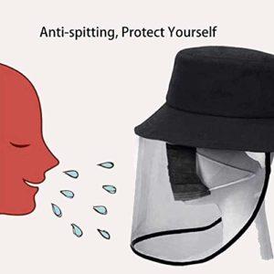 LOLO Visage Bouclier Visor Masque Facial Bouclier de Protection Chapeau pour Perdre sa féminité, Anti-Brouillard, Anti-salive, Anti-Cracher Couverture extérieure Fisherman Sun Hat