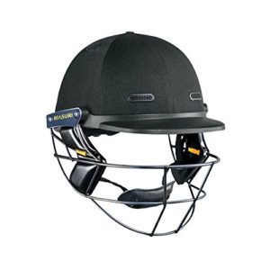 MASURI Casque de cricket Test Vision Series Grille en titane noir Noir Small Mens