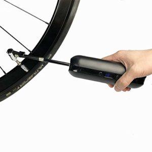 Mini Pompe à vélo Portable USB de charge vélo électrique à haute pression Pompe à pied avec pression LCD peut être utilisé for la route VTT Vélo et pneu auto Pompage Usages Multiples