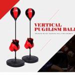 Nancunhuo Sac de Boxe réglable en Hauteur Enfants Punching Ball Sac de Boxe de Vitesse Set Sports Jeu de Combat avec des Gants