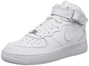 Nike Air Force 1 Mid (Gs), Chaussures de basketball mixte enfant, Blanc, 39 EU