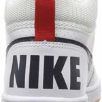 Nike Court Borough Mid (GS), Chaussures de Basketball garçon, Blanc (White/Obsidian/Univ Red/Gum Lt Brown 107), 37 1/2 EU