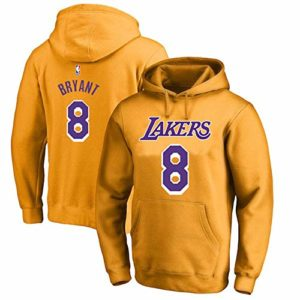 OUTWEAR Basketball Fan Unisexe Hoodies Pull Kobe Bryant # 24# 8 Los Angeles Lakers Sweat Spring Casual Pull Jumper T-Shirt Tops avec Poche – Cadeaux Ados Yellow #8-M