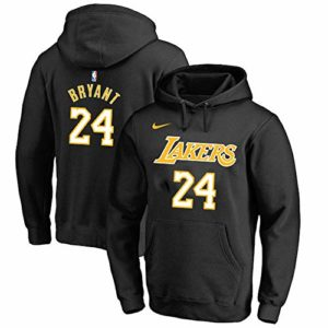 OUTWEAR Unisexe Hoodies Pull De Basket-Ball Kobe Bryant Fan # 24 Los Angeles Lakers Sweat-Shirt Pull Spring Casual Jumper T-Shirt Tops avec Poche – Cadeaux Ados Black-XS