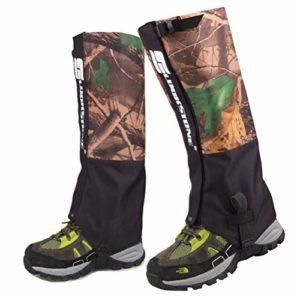 Parkomm Snake Leggings pour la randonnée Camping Course à Pied, Femmes et Hommes Protège-Jambes Couvre-Bottes pour Sports de Plein air Neige Imperméable et Coupe-Vent