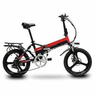 RXRENXIA Vélo Électrique, Cadre en Alliage D'aluminium Portable Batterie Vélo Pliant Facile Pliant Et Carry Poids Ultra Léger, Scooter Extérieur Voyage,A