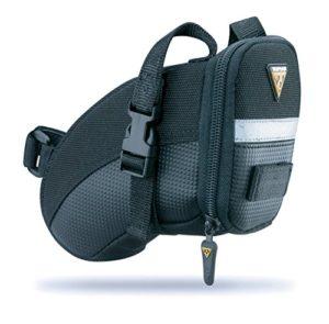 Topeak Aero Wedge Pack Straps Sac de Selle Mixte Adulte, Noir, Taille M
