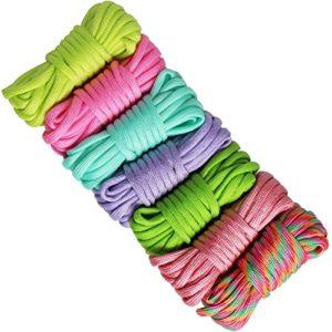UOOOM 7 pcs Multicolore Multifonction Paracordes pour Parachute Bracelet (Colorful U-B3M)