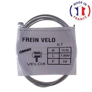 VELOX Cable de Frein Avant Embout vélo VTT VTC Ville Universel Acier Longueur 1.8m diamètre 1.5mm Type weinmann Shimano mafac