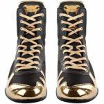 Venum Elite, Chaussures de Boxe Mixte Adulte,Noir / Or,40