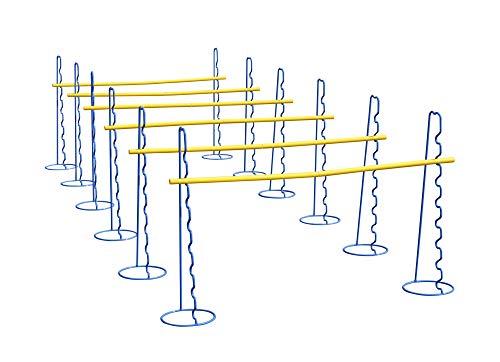 Vinex Six Haies d'agilité à Hauteur réglable – 63 cm