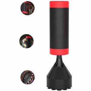 YFFSS Sac de Boxe Lourd Solide avec Ventouse Armure de Base et Le Bruit Dispositif d'absorption des Vibrations for Adultes Jeunes – Hommes Sacs Portables Kickboxing Kick Punching (Color : Red)