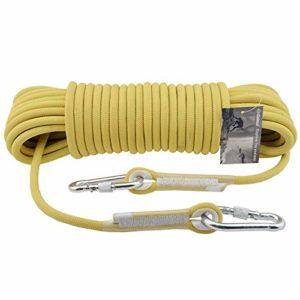 Yuanyu Aramide Kevlar Haute Température 11mm Escalade Corde Force Escalade Descente En Rappant Corde De Sécurité Extérieure Corde Équipement De Sport, 16 Tailles corde (Size : 200M)