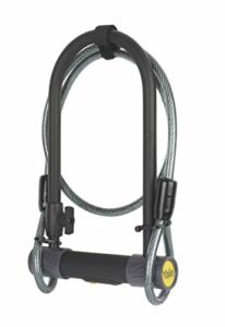 YUL2C/13/230/1 Antivol U de Sécurité + Câble (Certifié Sold Secure Silver) Pour Vélo, VTT, 230 x 115 x 13 mm, Noir