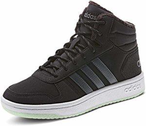 Adidas Hoops Mid 2.0 Chaussures de gymnastique pour enfant Bleu/jaune – Noir – Cblack Gresix Grefou, 32 EU