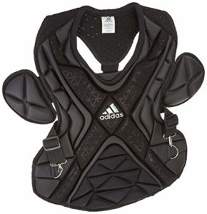 adidas S99092 PRO Series Baseball Catcher's Chest Protector Gen 2 Protective Gear, Black, Size 17