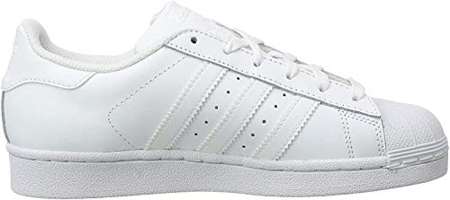 adidas Superstar, Baskets Mixte Enfant, Blanc (Footwear White/Footwear White/Footwear White 0), 37 1/3 EU