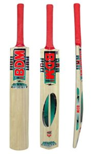 Bdm Kashmir Willow Wood Cane Handle Tennis Cricket Bat With Carry Case Adult Size – Choose Weight