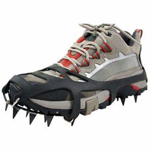 Cales de traction Glace Winter de TourKing Universal 18 dents, équipement d'escalade Crampons Pinces à glace Crampon Ice Snow Ground Anti-skid