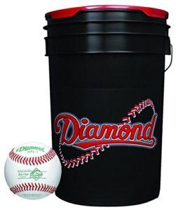 Diamant 6-gallon Boule Seau avec 30Dpl-1Pony League Baseballs