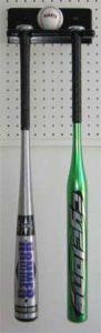 Displaygifts Batte de Baseball Support Mural de Support, pour 1Boule et 2Raquettes, Noir