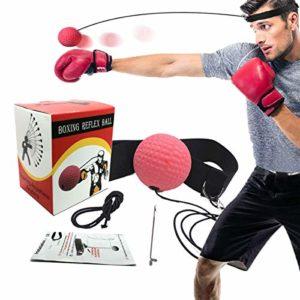 Dolphor Balle de Combat,Boxing Reflex Ball Fight Ballon de Boxe pour La Formation de Vitesse Réflexe Apprenez Les Techniques de Base des Arts Martiaux,Perdez du Poids,Punch Exercice Entraînement