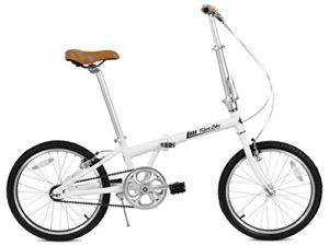 FabricBike Vélo Pliant, Cadre en Alliage, Mono-Vitesse, 3 Couleurs (Matte White & Black)