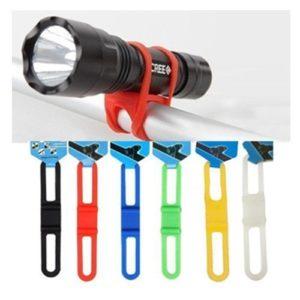 Lyanther Lampe de Poche en Verre Vélo Bande Lampe de Poche en Silicone Téléphone de Paquet De 5