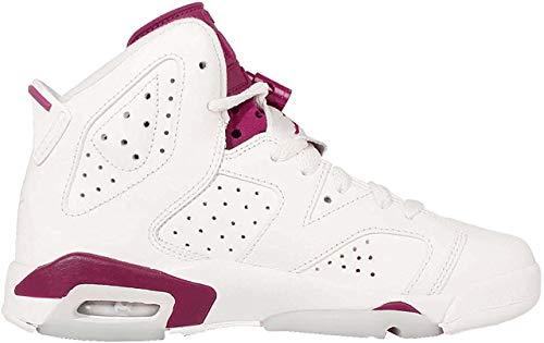 Nike Air Jordan 6 Retro BG, Chaussures de Sport garçon – différents Coloris – Blanc/Rouge (Blanc cassé/Marron Nouveau), 39 EU