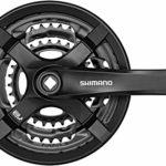 SHIMANO FC-TY501 Pédalier à 4 pans 6/7/8 Vitesses Noir 175 mm