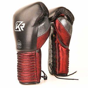 Shocly Gants Boxe Pro Style Profession Hommes Et Femmes Adulte,Black+Red