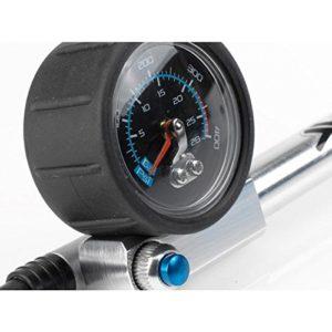 XLC HighAir Pro Pompe pour amortisseurs avec manomètre et Flexible 27 Bar Silber/Bla Taille Unique