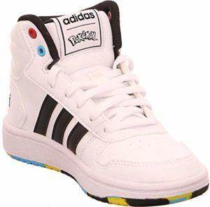 adidas Hoops Mid 2.0 K, Chaussure de Piste d'athlétisme Mixte Enfant, FTWR Blanc/Noir Noir/Scarlet, 31 EU