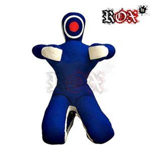Grappling Dummy Rox Coupe MMA réaliste Judo Sac de frappe Grappling Dummy – Position assise – Les Mains avant Bleu/blanc