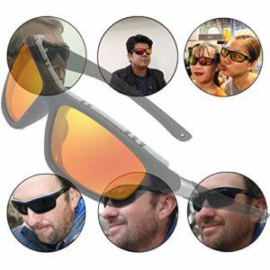Lunettes de soleil polarisées pour hommes femmes/Cool Fishing Golf Cyclisme Le golf Conduite Pêche Escalade Ancien Lunettes Sports de plein air des lunettes de soleil (Oranger)