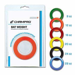 Champro Bat Poids Blister, Bordeaux, 16-Ounce