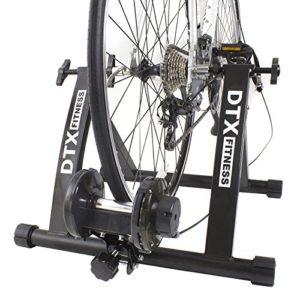 DTX Fitness Entraineur Turbo Réglable pour Vélo – Noir – Utilisez Votre Vélo Comme Vélo d'Appartement