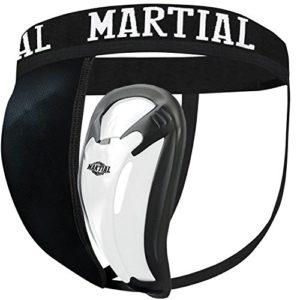 Martial Coquille avec 2 tailles de coupe pour un ajustement parfait. génitales de protection avec grande Liberté de mouvement. de faire de protection avec hanches élastique bande