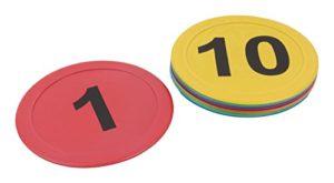 10 marquages au sol numérotés