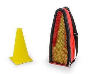 20 cônes de marquage – 23 cm – jaune – sac inclus