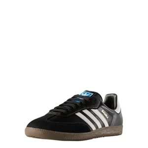 adidas Samba Leather, Chaussures de Football Homme, Noir (Black/Running White Footwear 0), 39 1/3 EU
