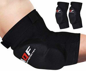 AQF Coudières avec Velcro rembourré pour sports de combat, moyen